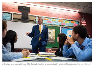 Here's Who is advising de Blasio on reopening NYC schools