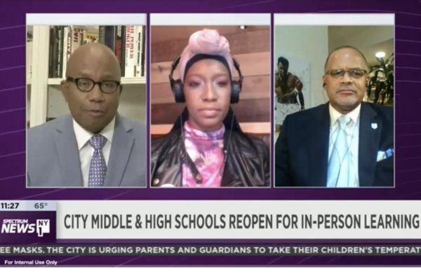 Eagle Academy Foundation President & CEO David C. Banks appears on NY1 to discuss the reopening of middle & high schools during the COVID pandemic.